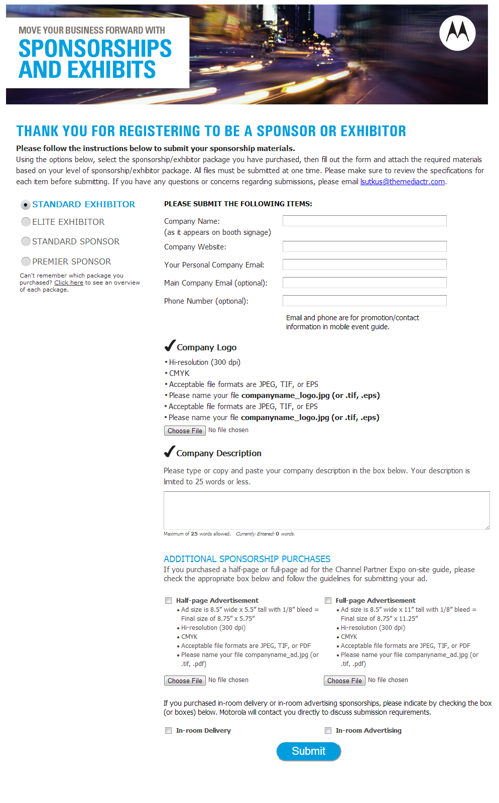 Motorola Digital Collection / Sign Up Forms | Simple SEO Group